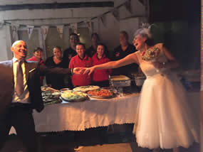 Michelle and James Walsh wedding party 2015