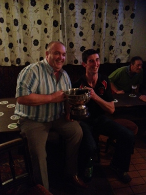 Joe Kelly with Michael Walsh Cup